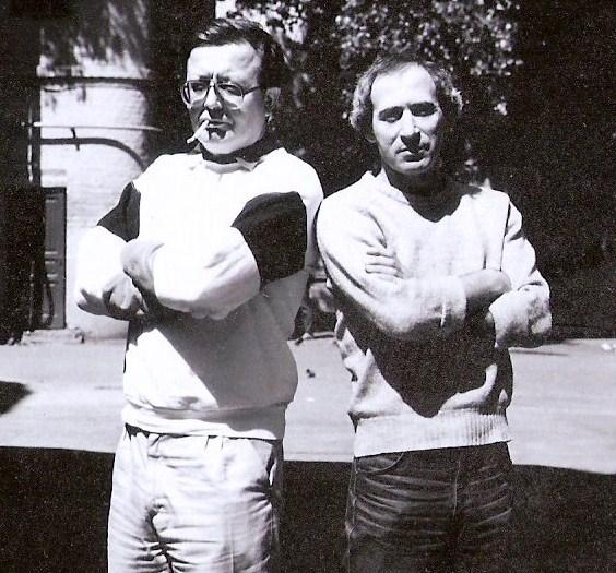 Евгений Блажеевский и Ефим Бершин. 1984 г. Москва