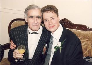 С внуком Ярославом. 2000 г