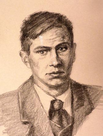 портрет Поплавского работы Инны Лазаревой