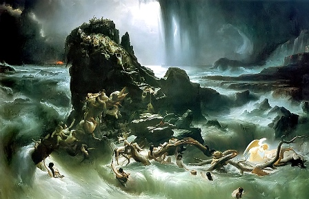 "Картина Фрэнсиса Дэнби ""Потоп""(1837г.)"