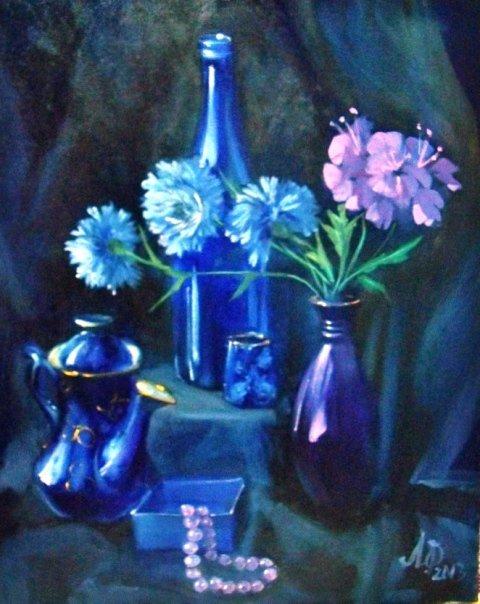 Лариса Филиппова Синий натюрморт