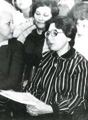 Занятия Родительского  университета Школа 90, 1984 г.