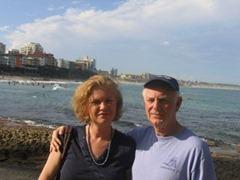 Алиса Мессерер и её отец Азарий Мессерер в Австралии