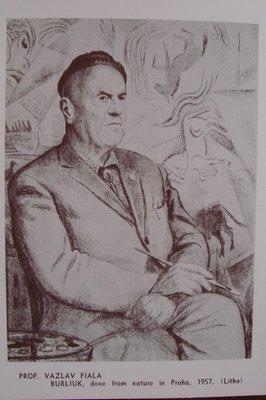 Вацлав Фиала. Портрет Давида Бурлюка