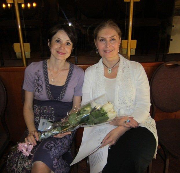 Наталья Лайдинен и Вера Зубарева в МЕОЦ
