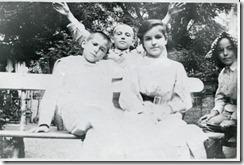 Катаев с семьей Арнери