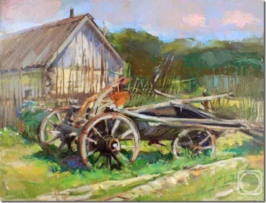 А. Рыбина-Егорова. Старая телега