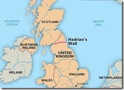 По этой линии император Адриан в 120 году нашей эры и построил великую стену между Англией и Шотландией – вал Адриана