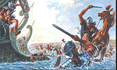 Первая высадка Цезаря на остров в 55 году до н.э.