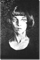 портрет Марины Цветаевой. Худ. Н. Вышеславцев