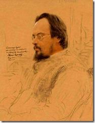 И.Е.Репин. Портрет писателя Е.Н.Чирикова. 1906 г