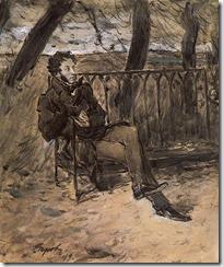 В. Серов. Пушкин в парке. 1899 г.
