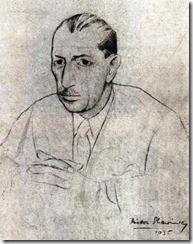 Федор Стравинский. Портрет Игоря Стравинского, 1935 г.