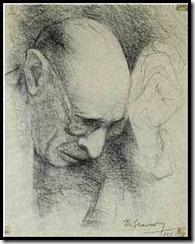 Портрет Игоря Стравинского. Работа Федора Стравинского