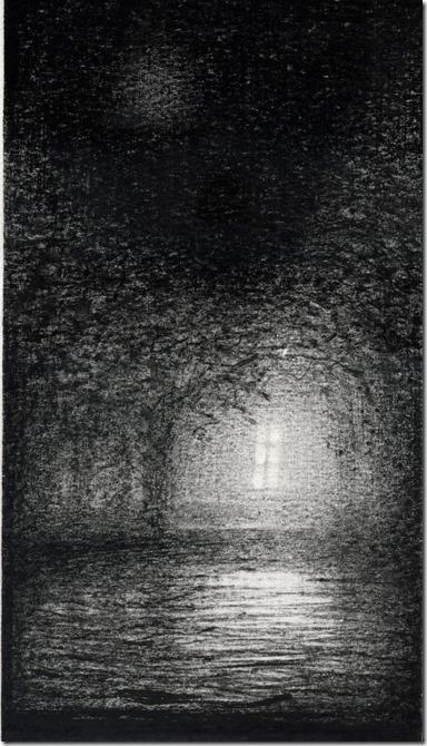 А.Дедушев. Ночь. Свет в окне. 2021